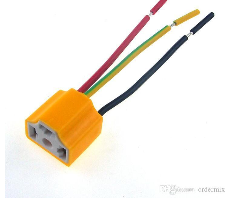 H4 9003 자동차 트럭 여성 세라믹 헤드 라이트 확장 커넥터 플러그 조명 램프 전구 와이어 소켓 어댑터 12V