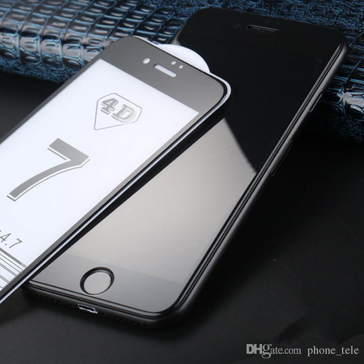 4D Curvado De Vidrio Templado Delantero De Película 4D Cubierta Completa Protector De Pantalla De Vidrio Templado Protectores De Pantalla Rojo Chino para iphone 7 plus 6 6 s más