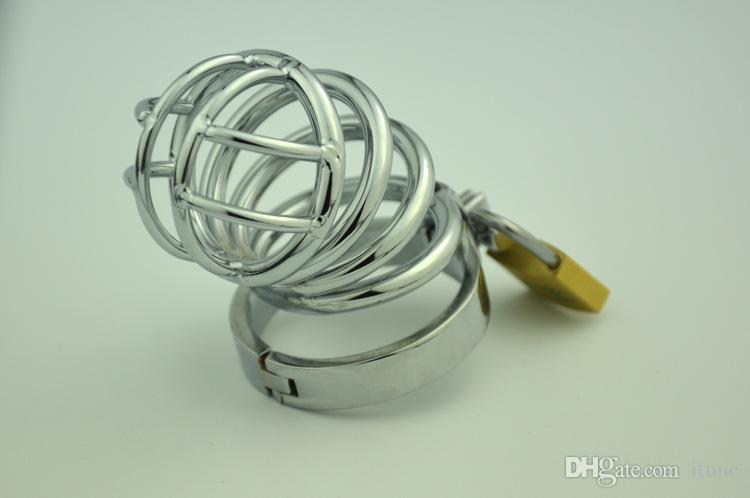 7.5*3.3cm small size Chastity device Men's Cockcage Stainless Steel Cock cage and Ring Adult BDSM Sex Product Bondage Fetish FF080