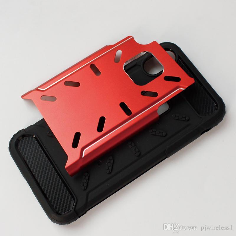 Hybrid Armor dla iPhone X dla iPhone X 8 Plus 7 plus Galaxy Note 8 S8 Plus TPU Metal 2 w 1 C