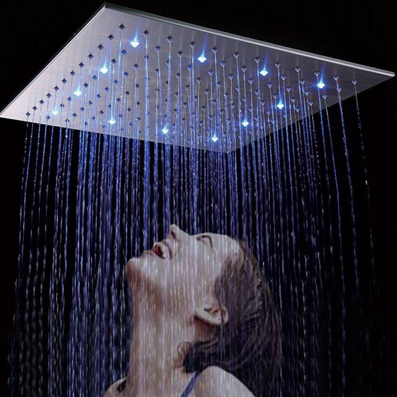 2018 Wholesale 500*500mm 20 Inches Luxury Rainfall Led Big Shower ...
