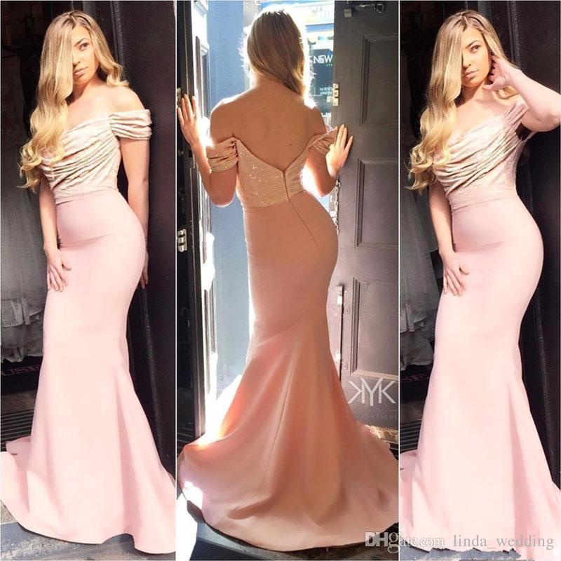 Rückenfreies langes Abendkleid elegante Meerjungfrau Pailletten formale Abschlussfeier Kleid plus Größe nach Maß