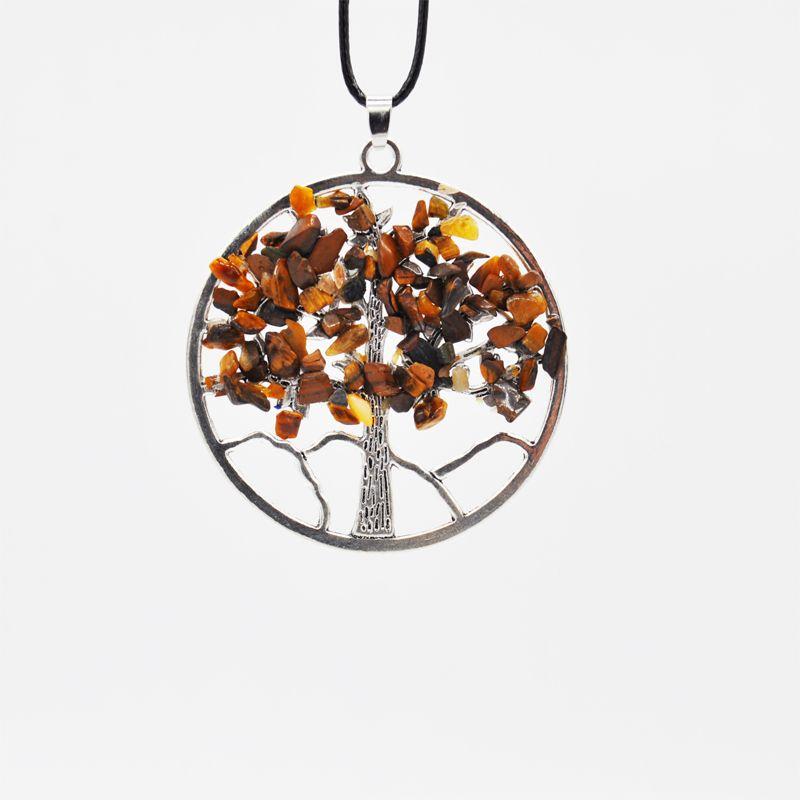 Кварцевые чипы ручной работы ожерелье 7 чакра натуральный камень ювелирные изделия женщины круглая форма ожерелье мода Кристалл ювелирные изделия подарок B159S