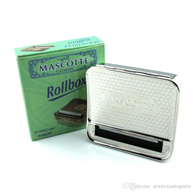 Rollbox cigarette rolling machine Automatic making 70mm DIY Tobacco Metal stainless steel Roller Box case