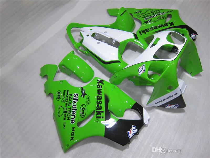 Free 7 gifts Fairings set for Kawasaki Ninja ZX7R 96 97 98 99 00-03 white green fairing kit ZX7R 1996-2003 OY21