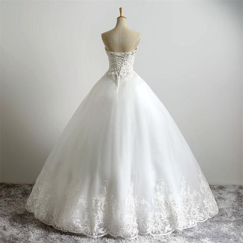 Sexy longo vestido de baile vestidos de casamento querida mangas até o chão vestidos de noiva Lace Applique vestidos de casamento Custom Made Plus Size