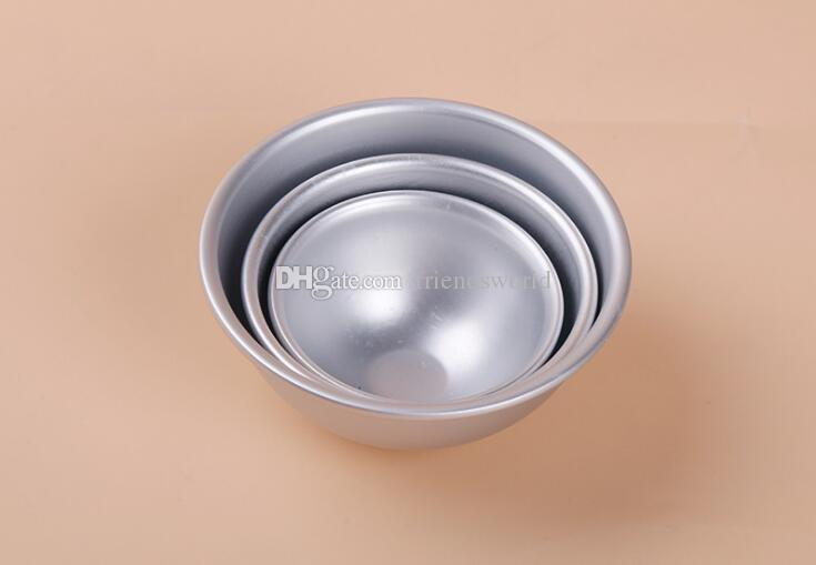 3D Aluminum Alloy Ball Sphere Bath Bomb Mold Cake Baking Pastry Mould By DHL TNT SF UPS