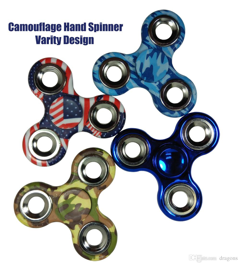 Multiple Design Fidget Spinner Spiral Camouflage Hand Edc Camo Color Gyro Toys For Fun Focus Anxiety Stress Relief Spinning Top