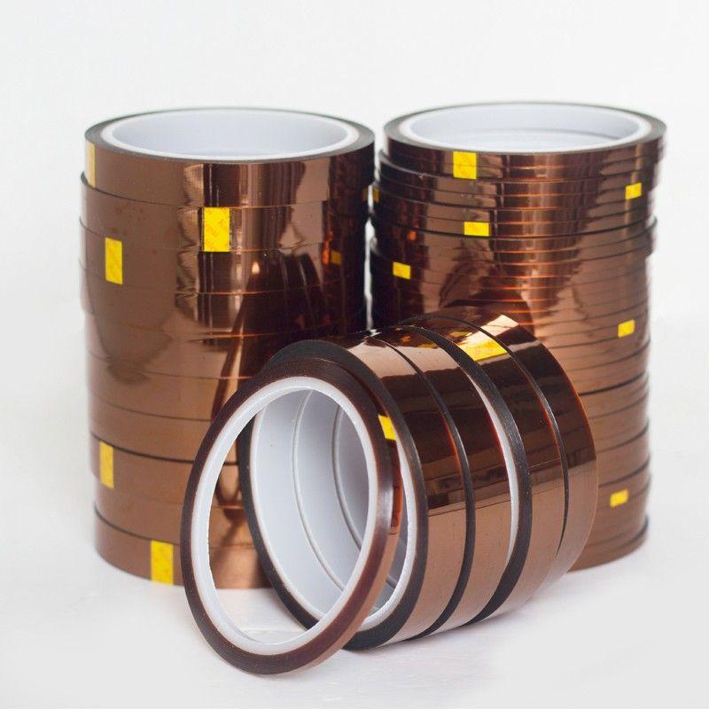 10 مم × 33 متر الشريط المقاوم للحرارة العالية الحرارة الشريط بوليميد الشريط مخصص للطابعة بجا PCB SMT 3D تصل إلى 250 درجة مئوية