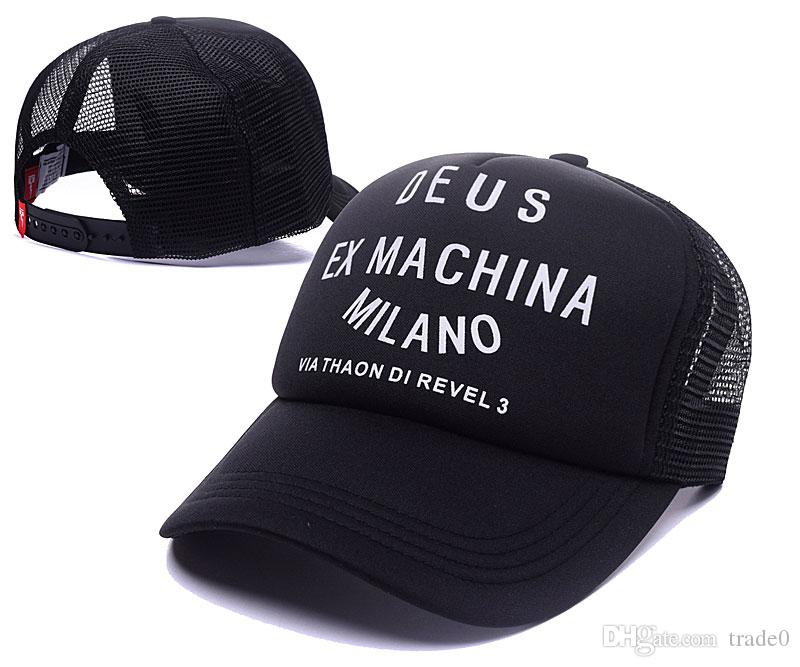 Deus Ex Machina Baylands Trucker Cap nero Mototcycles cappelli maglia da baseball casquette Strapback caps