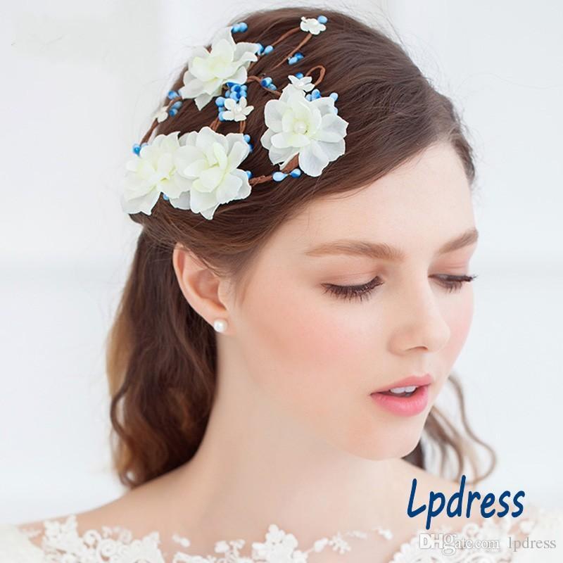 Accessori capelli da sposa Fata Accessori da sposa fiori 2017 Nuovo arrivo da giardino Accessori capelli da sposa economici