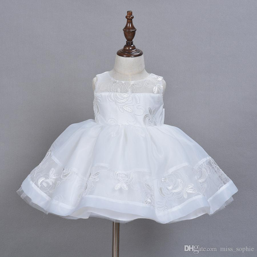 d5a6ded8136a2 Lace Kids Fairy Dresses For Baby Girl First Birthday Party Wear Infant  Christening Gown Dress Girl Baby Kid Clothing Free shipping