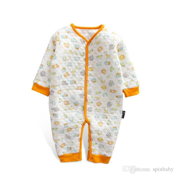 2017 Newborn Infant Baby Unisex Romper Jumpsuit Bodysuit Outfits Long Sleeve Clothes Baby Rompers