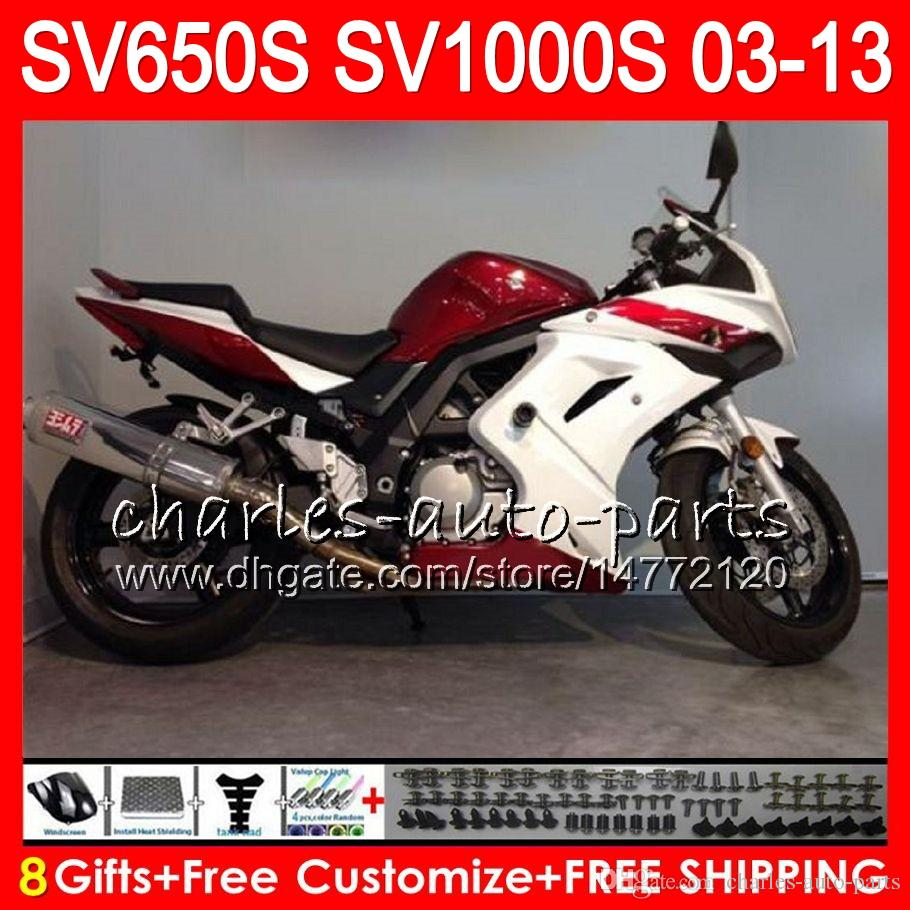 8gifts for suzuki sv1000s sv650s top red black 03 09 10 11 12 13
