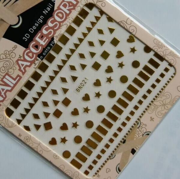 Altın Gümüş 3D Nail Art Etiketler Tırnak Dekorasyon Tasarım Marka Folyo Güzellik Etiketler Çivi Aksesuarları Çıkartmaları Aracı