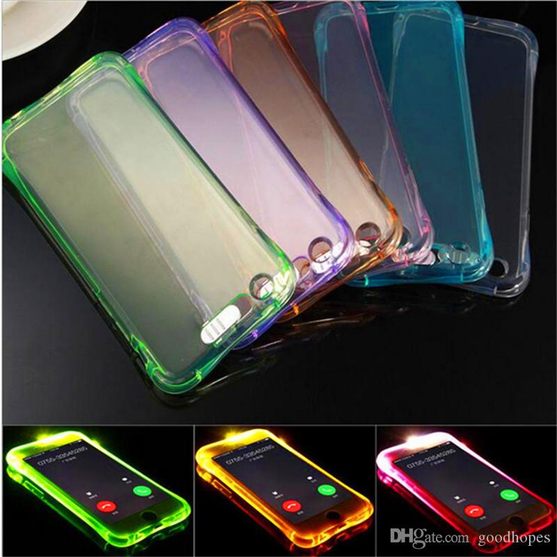 For IPhone X 8 Calling Flash LED Light UP Case Casbag Soft TPU ... c80394a77