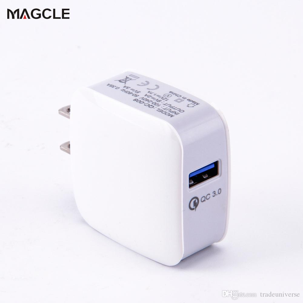 18W USB Travel Wall Charger With Qualcomm Quick Charge 3.0 Fast Phone Charger For Samsung Xiaomi For Iphone 7 6S Black/White
