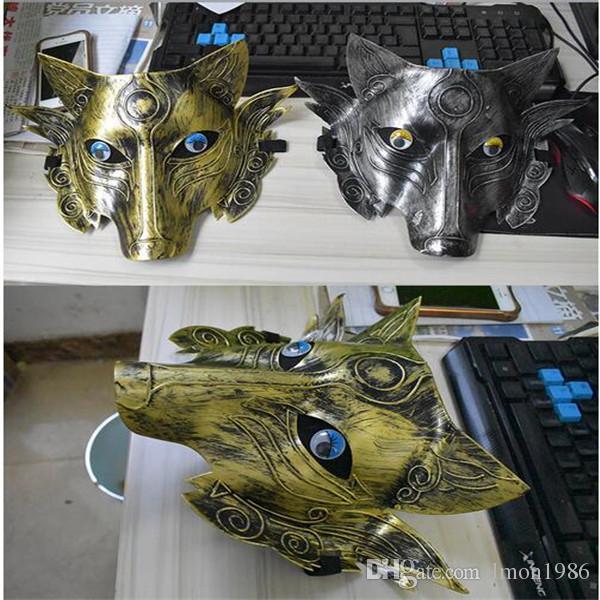 Горячие продажи новый Хэллоуин косплей жуткий взрослый волк Маска CS игра Маска костюм опора новинка Волк маска для лица свободный размер