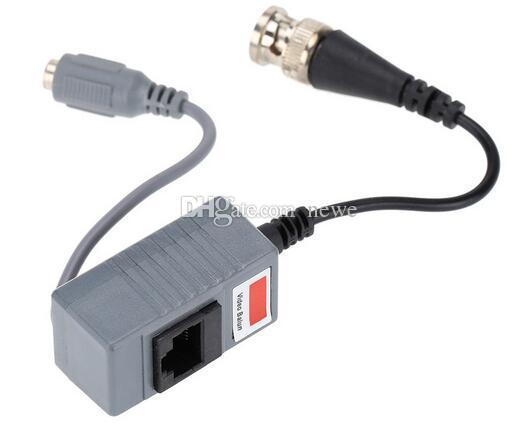 CCTV 카메라 액세서리 오디오 비디오 Balun 트랜시버 CAT5 / 5E / 6 케이블을 통해 오디오 및 전원 BNC UTP RJ45 비디오 발룬