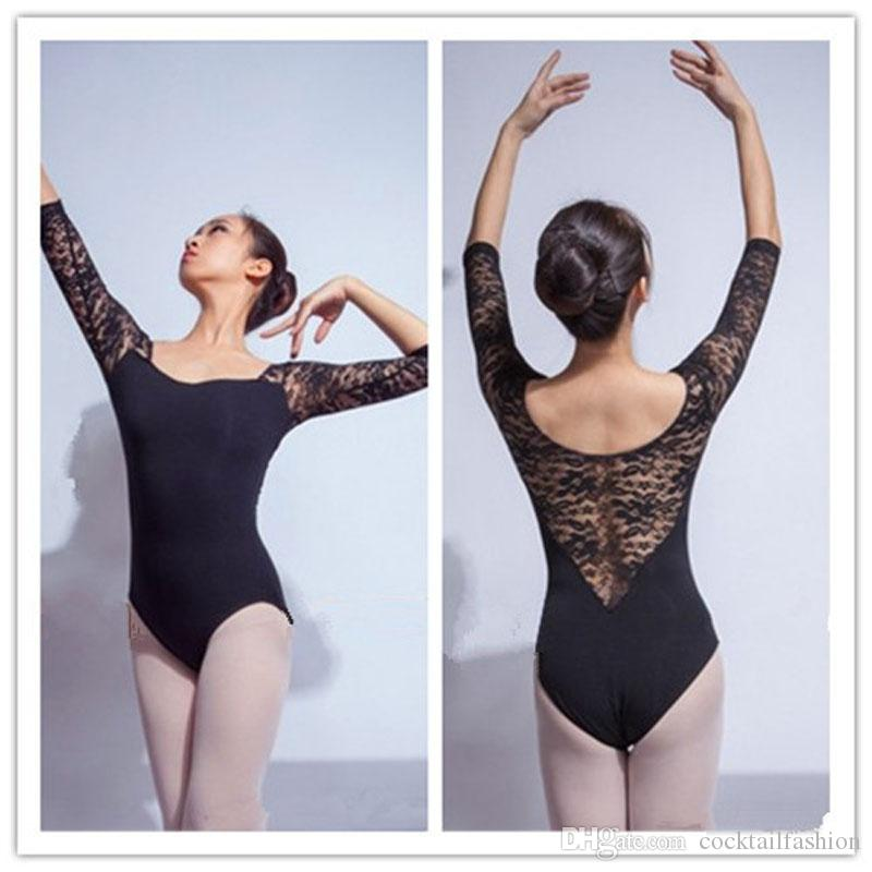 e6f94a262c Ballet Leotard For Women Pure Cotton Black Ballet Dancingwear Adult Dance  Practice Costumes Gymnastics Leotards