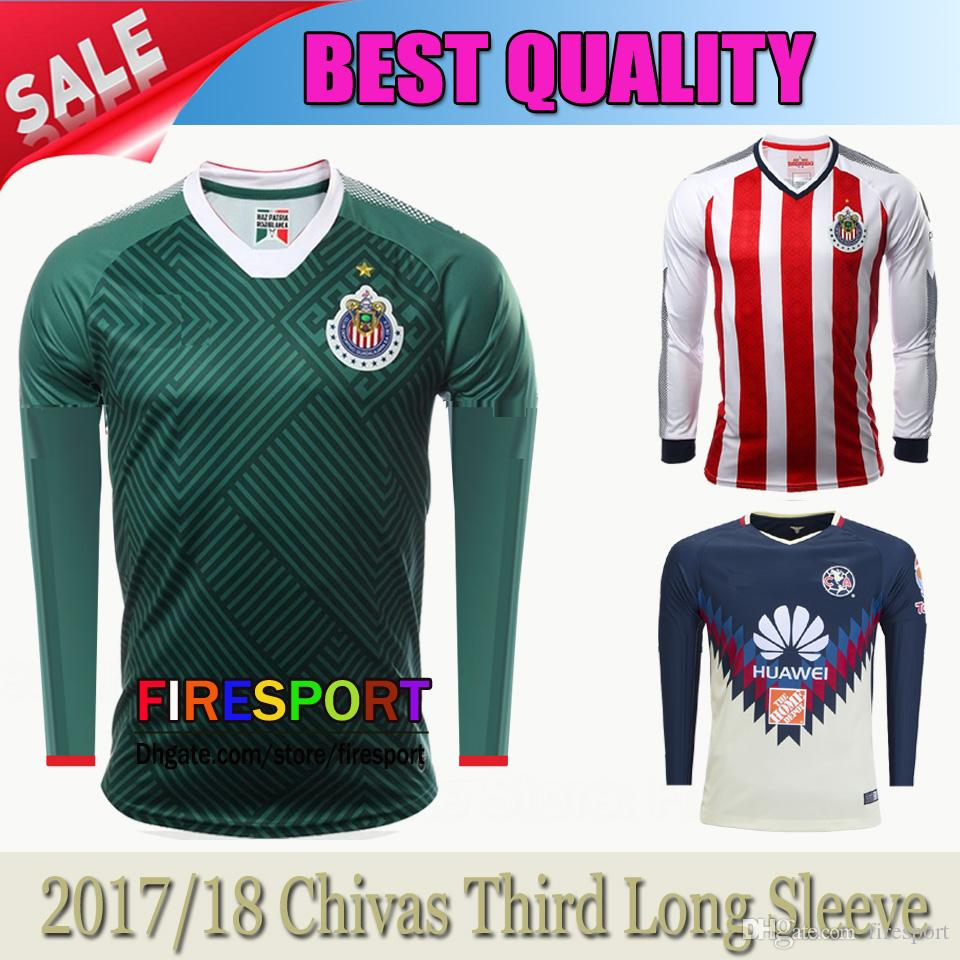 2017 2018 Mexico Club Chivas De Guadalajara Long Sleeve