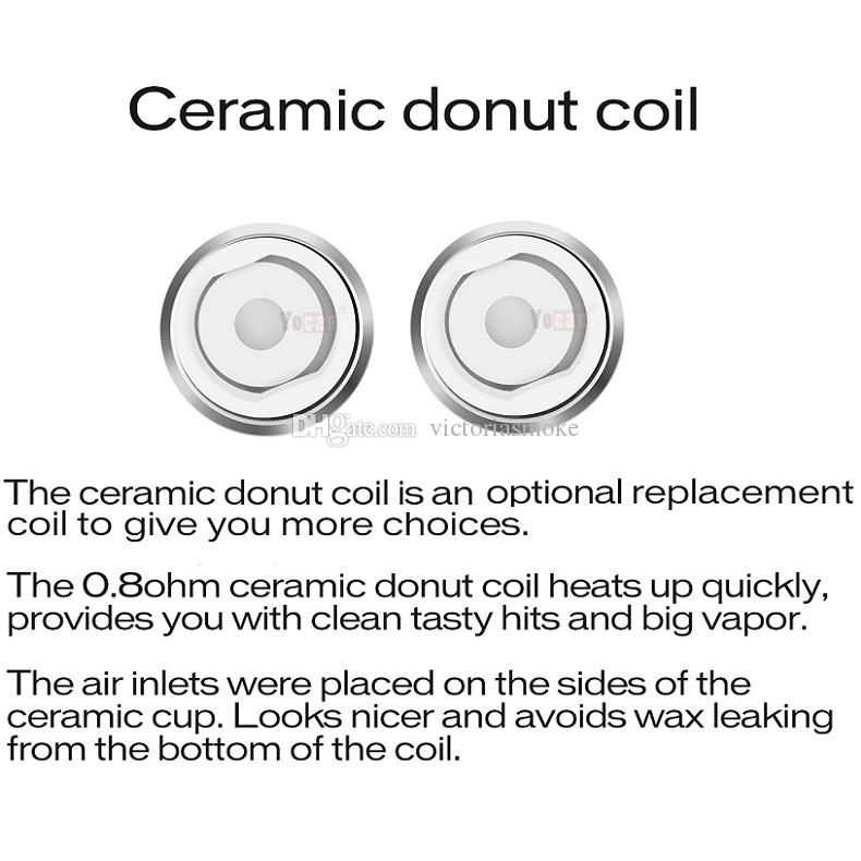 Authentic Yocan Evolve Plus Coils For Yocan Evolve Yocan Evolve Plus Kit QDC Quartz Dual Coils & Ceramic Donut Coils