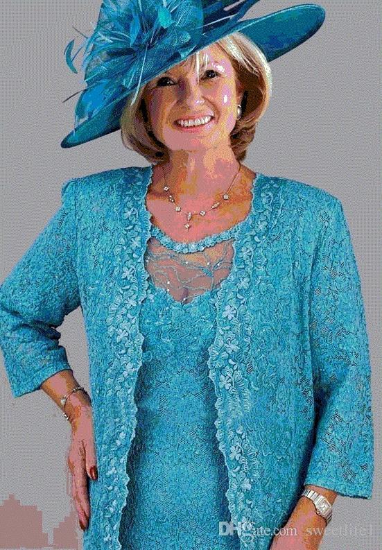 Il collo del gioiello dei vestiti dalla madre del ginocchio del pizzo del turchese si veste con i vestiti della madre del rivestimento nozze su ordine