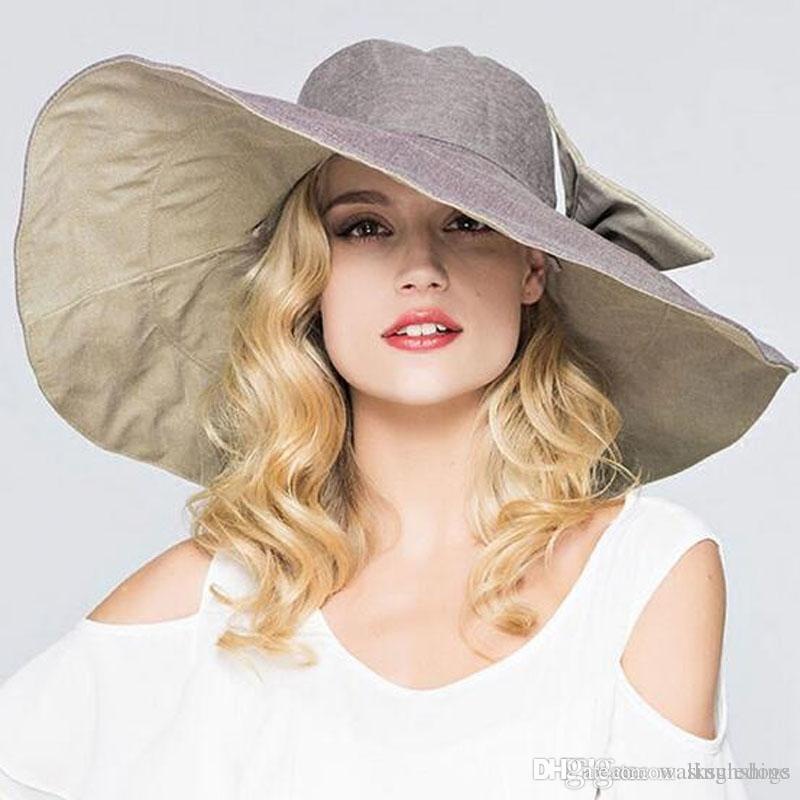 Elegant Bohemia Cap Straw Hats Floppy Summer Wide Brim Hats Vacation Beach Holiday Foldable Hats Sun Hat Caps Free Shipping