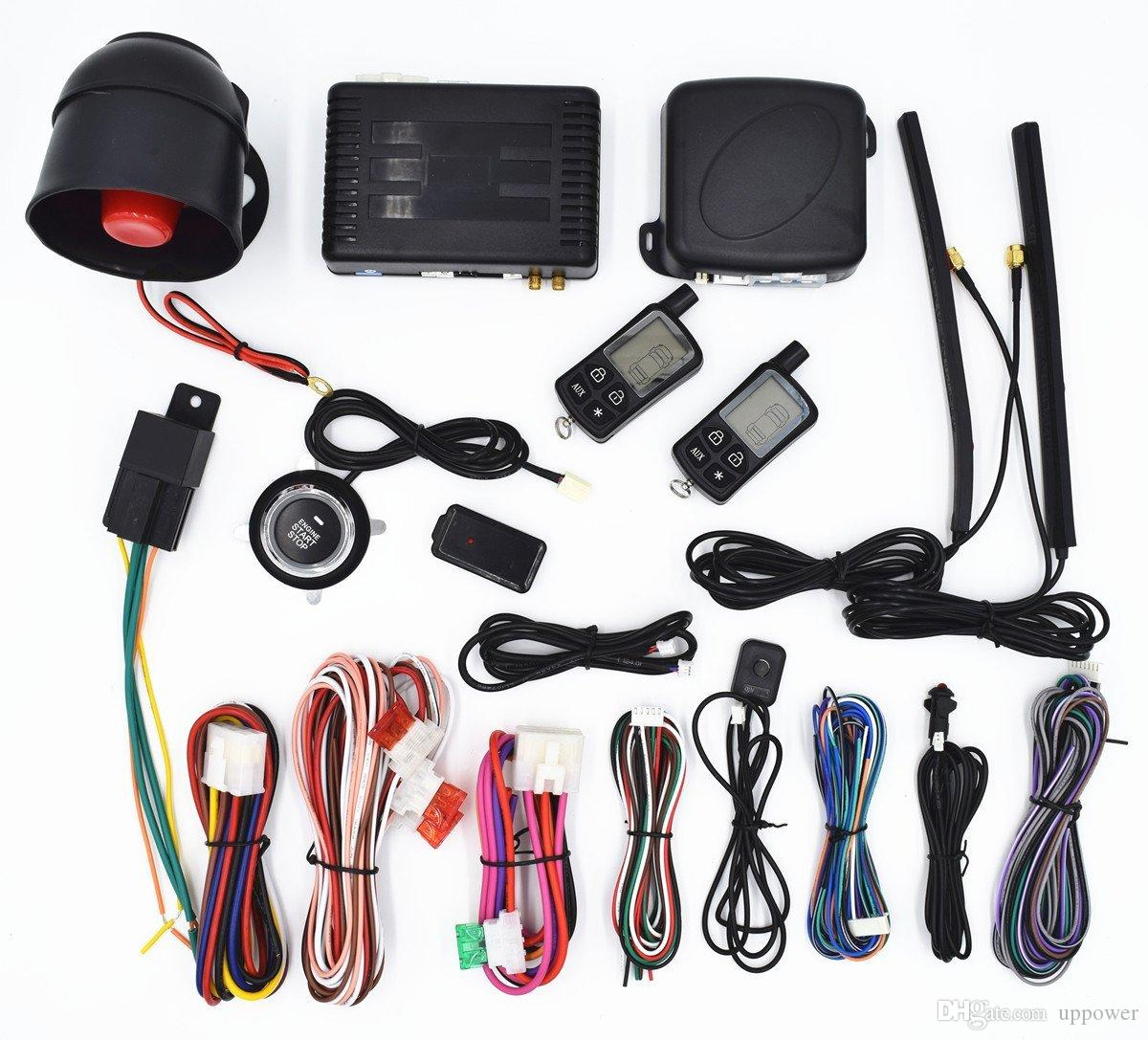 Best Carbest Vehicle Security Paging Car Alarm 2 Way Lcd   Push ...