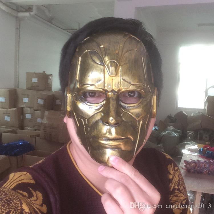 Retro Vintage Stein Mann Voller Kopf Maske Halloween Maskerade Kostüm Maske Cosplay 2 Clour Gold und Silber
