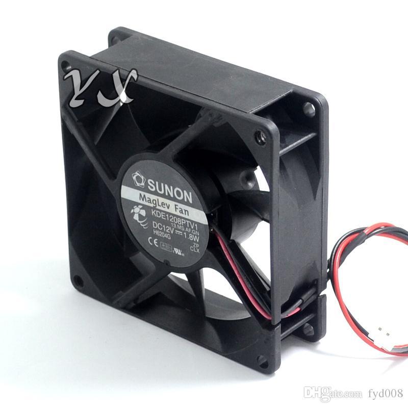 Di alta qualità di trasporto libero nuovo SUNON KDE1208PTV1 12V 1.8W 8cm telaio alimentazione ventola di raffreddamento