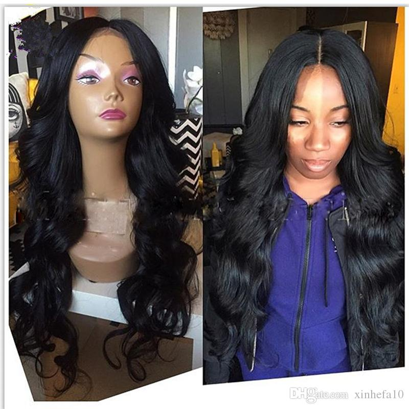 Malaysian Hair Full Lace Wigs Remy Human Hair Front Lace Wigs Body Wave 8A Grade Cheap Price