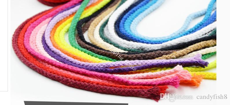 013 Accessoires de couture 5MM huit couleurs coton cordon cordon pantalon poche DIY corde de coton tissé à la main