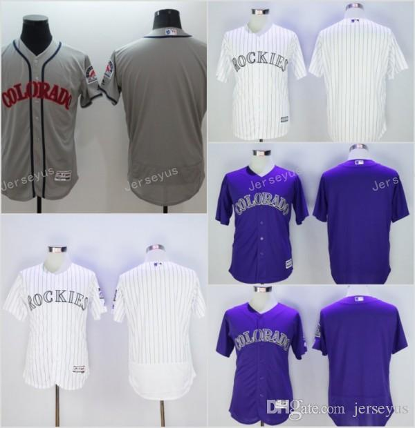 343a23189 mens majestic colorado rockies customized authentic purple alternate 1 cool  base mlb jersey  2017 2017 flexbase colorado rockies blank home away  baseball ...