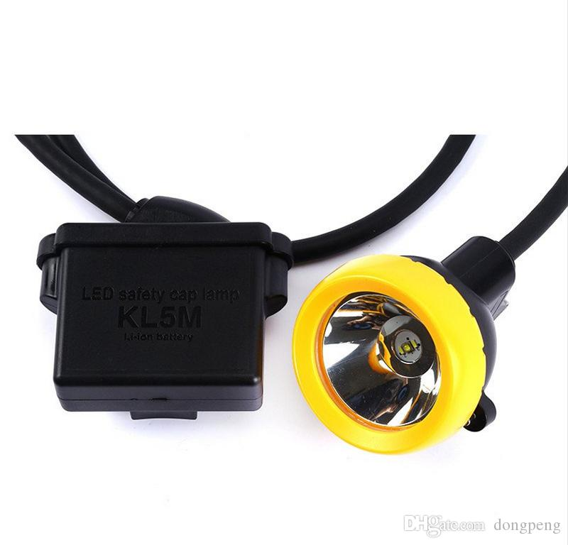 KL5M LED Miner Cap Lamp, Super Bright Rechargeable Lithium Battery LED Headlamp Mining Headlight Outdoor Hunting Head Lamp