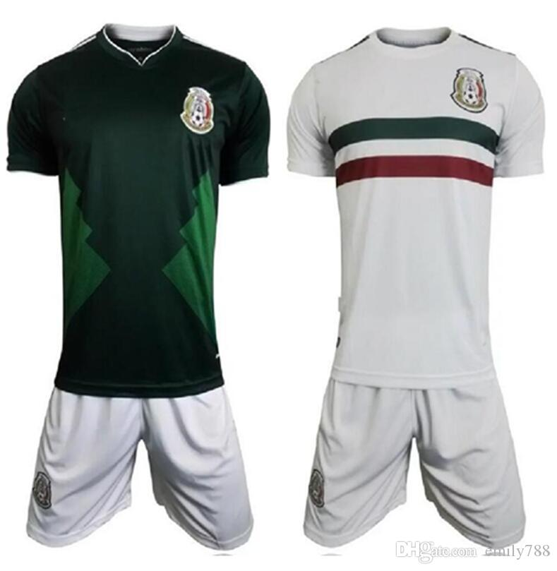 820544f90 ... mens mexico national team home jersey green 2017 2018 Kit camisetas de  mexico Confederations Cup Football Mexico 2015 ...