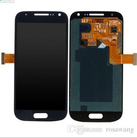 Super AMOLED LCD Display Touch Screen Digitizer for Samsung S4 Mini I9190 I9192 I9195 Phone LCDS with Tempered Glass and Sticker
