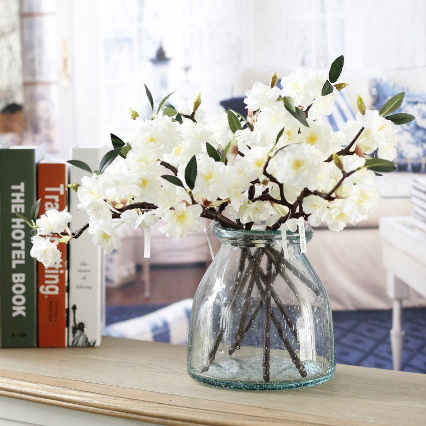 20 Stücke Künstliche Gefälschte Kirschblüte Seidenblume Braut Hortensien Hausgarten Decor Party Hochzeit Dekorationen neu