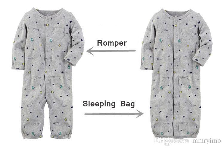 VENDITA CALDA Vestiti del bambino Pagliaccetto del bambino Carino Cotone Ragazzi Ragazze Pigiama infantile Sleepwear Tuta intera Tuta Sacco a pelo Primavera Autunno