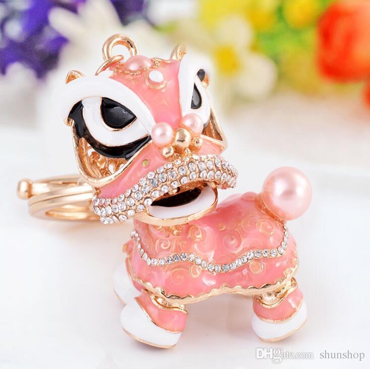Chinesische Löwe Tanzart populäre Legierung Tropfenfänger keychain Löwe keychain Auto Schlüssel Ringe Ornamente Boutique Großhandel