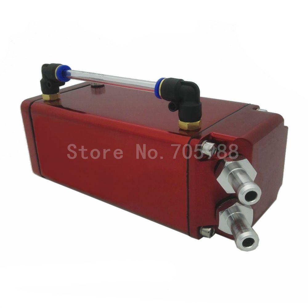 FULL Aluminum Engine Oil Catch Reservoir Breather Tank Can For Honda RED