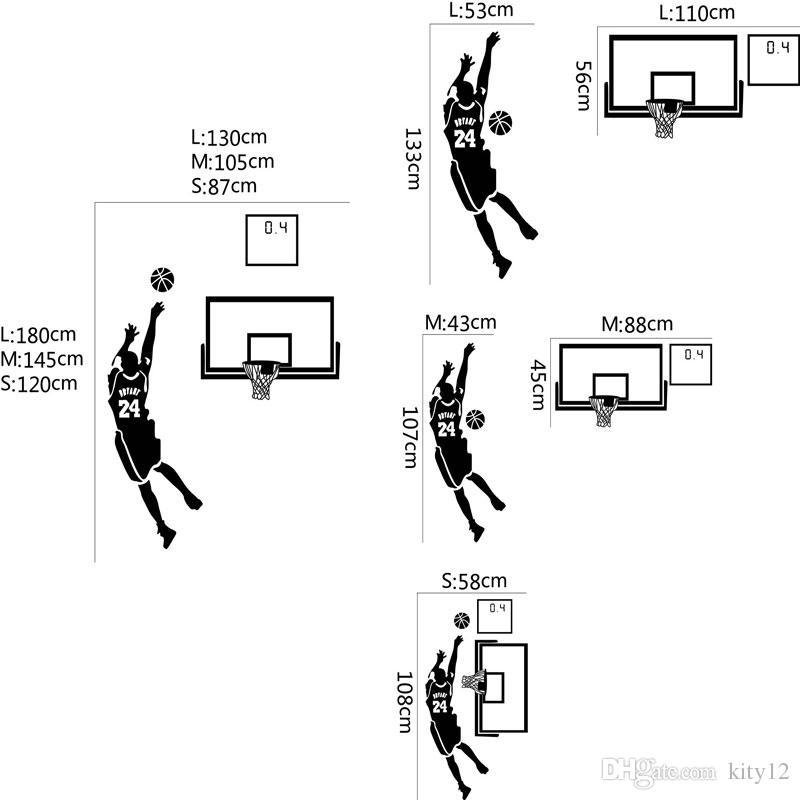 Basketbol Erkekler Boys Duvar Çıkartmaları Spor Duvar Kağıdı Duvar Çıkartmaları Sanat Çocuk Boys Odası Ev Dekorasyonu ücretsiz kargo