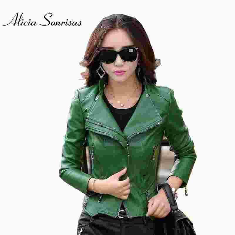 Plus Size Leather Jacket Women PU Leather Suede M- 4XL 5XL Women's ...