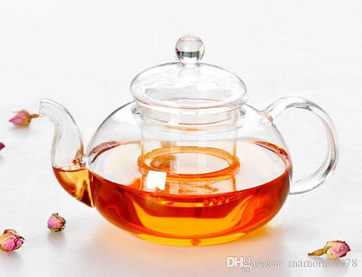 Novo Prático Resistente Garrafa Bule De Vidro Com Infusor de Chá Folha De Chá De Ervas De Café 400 ML J1010-1