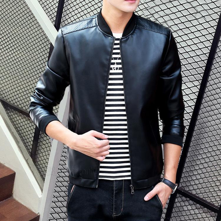 Wholesale- MCCKLE Fashion Mens PU Leather Jacket Coat Slim Fit Motorcycle For Man Stand Collar Fashion Leather Biker Parka Outwear