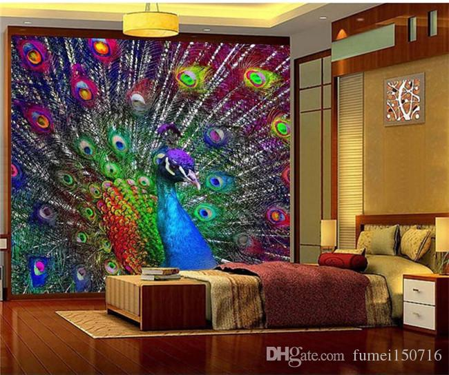 3d Colorful Peacock Open Screen Photo Wallpaper Murals For Living Room  Bedroomwall Decor Painting Modern Abstract Art Wall Mural High Definition  Desktop ... Part 50