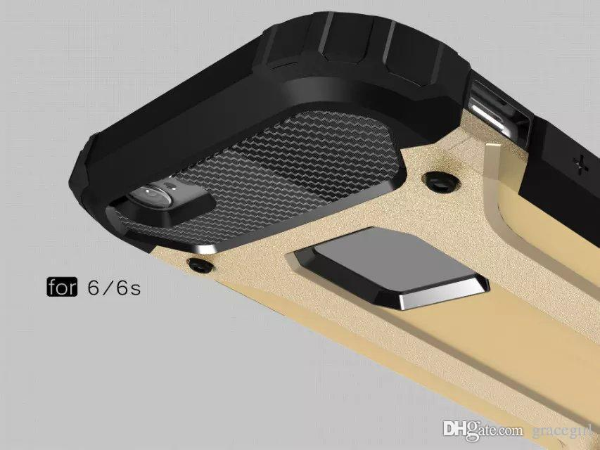 Dual Layer Case Shock-Proof Armor Hybrid TPU Aluminum PC Hard Durable Slim high Impact For Iphone 7 7PLUS 6S 6 PLUS I6 SE 5 5S Skin Luxury