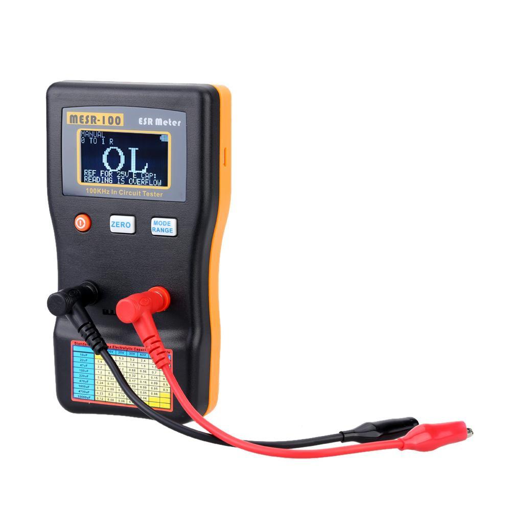 Freeshipping ESR Capacitance Ohm Meter Mesure professionnelle Capacitance Résistance Testeur de circuit