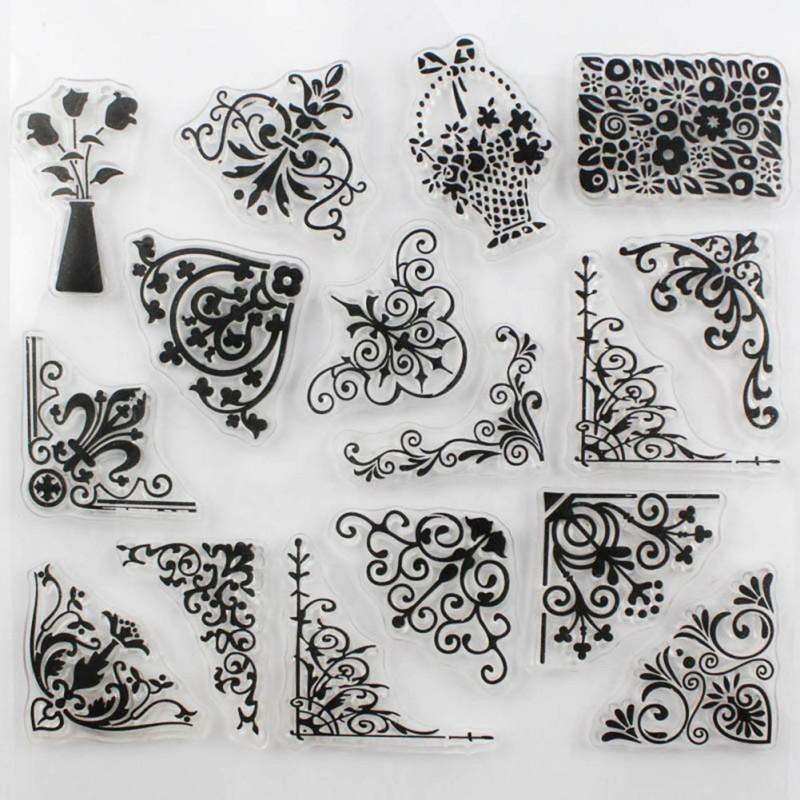 2018 Newest Flower Design Clear Transparent Stamp Diy Scrapbooking ...