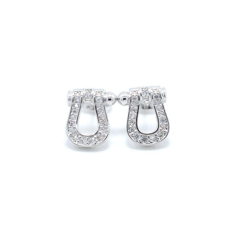 Bijoux de mode bijou Dormeuses 18K plaqué or cuivre Demi-cercle Classique Amour Boucles d'oreilles Femmes Piercing Bijoux pour femme
